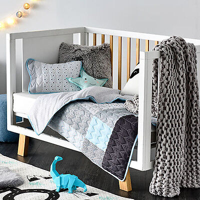 Adairs Kids Aspen Quilted Cot Cover Set Rrp$129.99