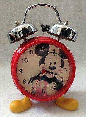 disney mickey mouse battery alarm clock