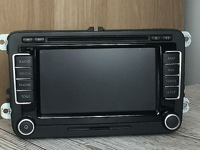 Vw Rns510 Navigation Sat Nav Stereo Radio Dvd Mp3 Player Golf Passat Scirocco