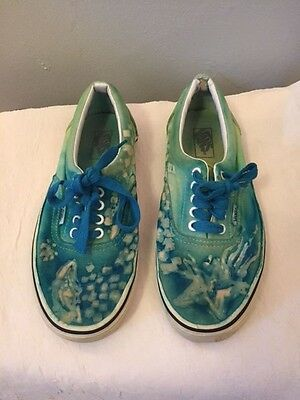 Vans Mens Shoes US 8 / Women's US 9.5 Blue ~ Green~ Tie Dye