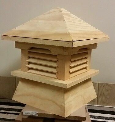 Beautiful high quality 17''pine Cupola,SPECIAL 17''Lx18''Hx17''W base 14''x14''