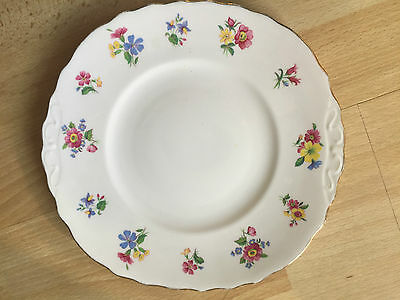 Royal Vale Bone China Very Pretty Cake Plate With Dainty Flower Pattern