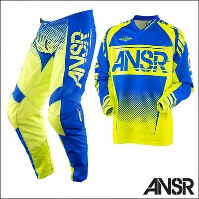 Answer Racing Syncron Blu Giallo completo motocross enduro quad pantalone+maglia