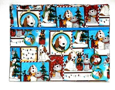 Christmas Toddler Pillowcase Dogs and Cats Multi-color 100%Cotton New Handmade
