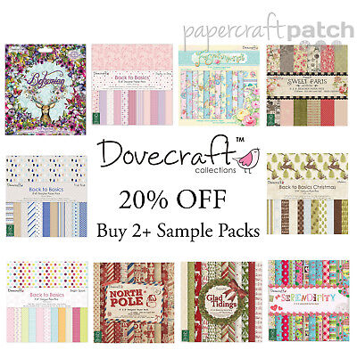 """Dovecraft 8""""x8"""" Papers - 12 Sheet Sample Packs + EXTRA 20% OFF 2+ PACKS"""