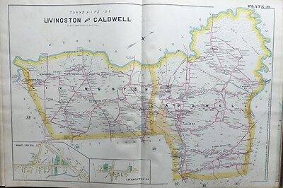 1890 E. Robinson, Essex County, Nj, Livingston, Caldwell Copy Plat Atlas Map
