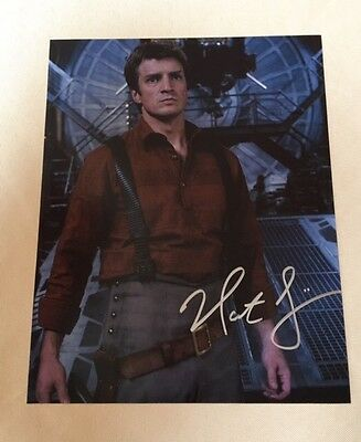 Firefly Nathan Fillion Autographed Signed 8x10 Photo COA