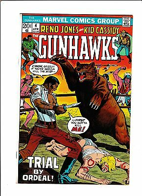 "Gunhawks #4  [1973 Vf-Nm]   ""trial By Ordeal!"""