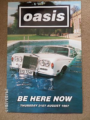 Oasis Be Here Now Original 1997 Promo Poster.