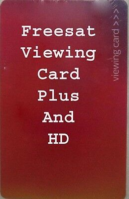 FREESAT VIEWING CARD PLUS AND HD *Quick Free Post* 1 Year Warranty Included