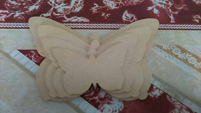 Set of 4 MDF Butterfly shapes