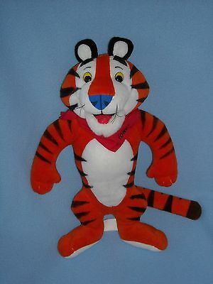 "LARGE 14"" KELLOGGS TONY the TIGER FROSTED FLAKES STUFFED ANIMAL PLUSH TOY"