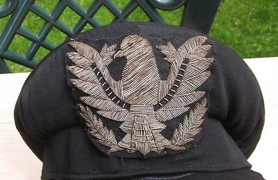 Wwii Bulgarian Air Force Land Support Troops Military Visor Hat Cap Eagle Patch