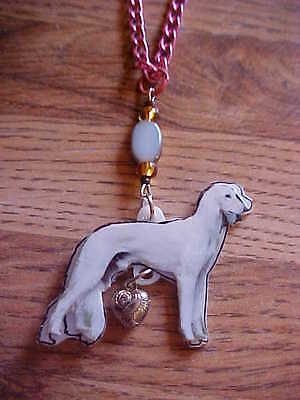 SALUKI Necklace & Pendant -  CHARITY AUCTION - Dog Jewelry