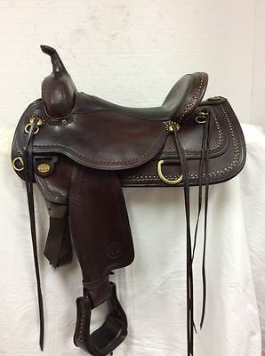 "Circle Y Used 16"" Shawnee Western Flex Trail Saddle 1653 Full Quarter Horse Bar"