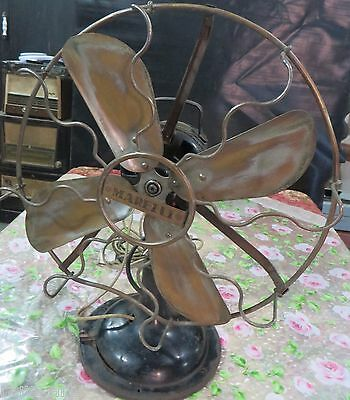 MARELLI Fan Altern THE ENGLISH ELECTRIC Oscillating 4 Blades BrassCage Working