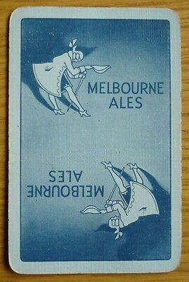 Brewery Single Playing Card. Melbourne Ales. Leeds. Blue.