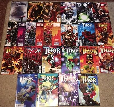 Thor #601-621 Marvel Comics 22 Issues
