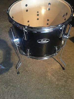 Pearl Road Show 13 X 10 Floor Tom Black With Chrome