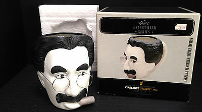 Groucho Marx Great Entertainer Stein Collectible Signed Numbered Mug Cup Boxed