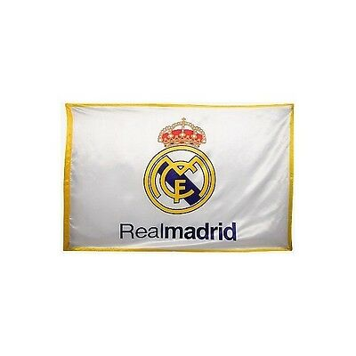 Bandera del Real Madrid blanca 1-1014