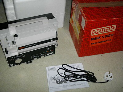 Eumig S810D Super 8 Standard 8Mm Sound Retro Cine Film Movie Projector