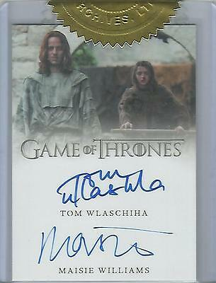 "Game of Thrones Season 6 - ""Arya Stark/Jaquen H'ghar"" 9 Case Dual Autograph Card"