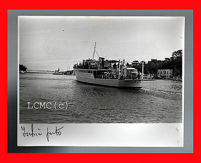 Fotografia Photo Vintage B/n Black And White 1978 Napoli Ischia Nave Traghetto