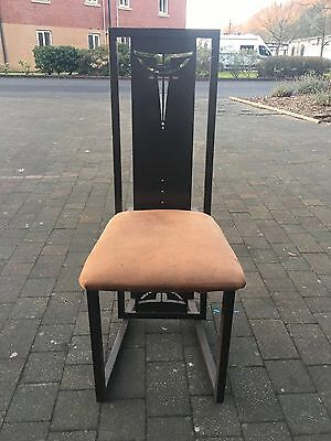 6 Mackintosh, Arts & Crafts Art Deco Nouveau Metal Dining Chairs