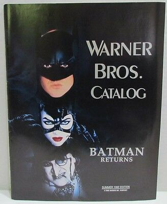Warner Brothers Catalog Summer 1992 Batman Returns cast on cover