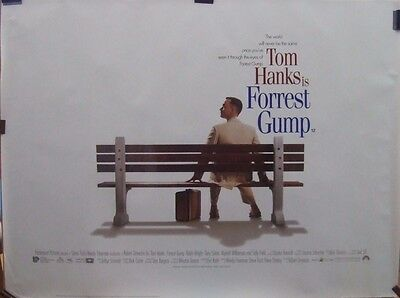 Tom Hanks FORREST GUMP(1994) Original rolled UK quad movie poster UK POST FREE