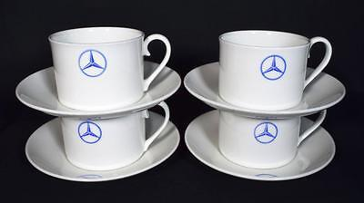Mercedes Benz Dealership x4 Cups and Saucers