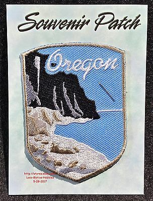 LMH PATCH Badge  OREGON Pacific Ocean Coastline  ELEPHANT OTTER ROCK Formations