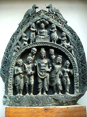 Gandhara Style Great Departure Lord Buddha Monumental Statue Rare Meditation