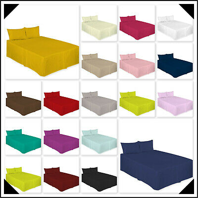High Quality Plain Dyed Box Pleated Platform Base Valance sheets in all sizes