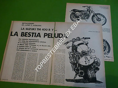 Suzuki Tm 400 Munch 1200 Motorcycle ,4 Pages Article Note Spanish Argentina 1973