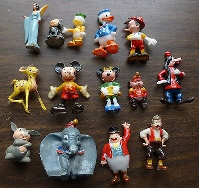 14 1960s Disneykins Figurines with Colored List of All Marx Disneykins