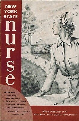 Oct 48 New York Nurse, Infantile Paralysis Polio, Nursing Pensions, State Boards