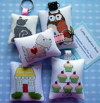 Handmade Keyring Scottie Dog Cupcakes House Owl Cat New Home 21st 18th GIft