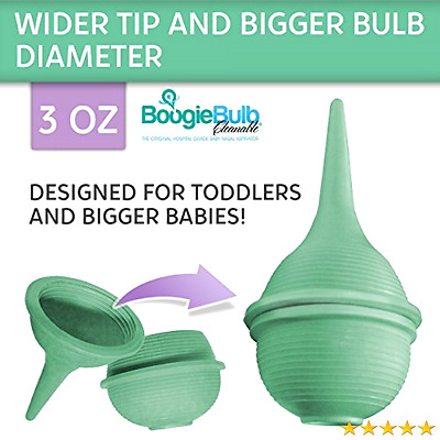 Baby Nose Suction Nasal Aspirator and Booger Sucker for Infants, Toddlers, and