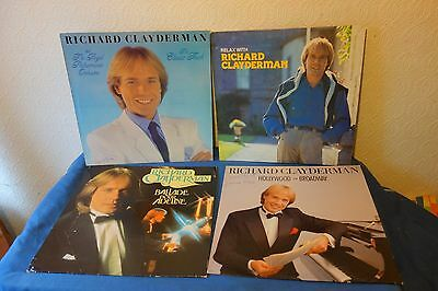 4 x Richard Clayderman Vinyl Albums LPs