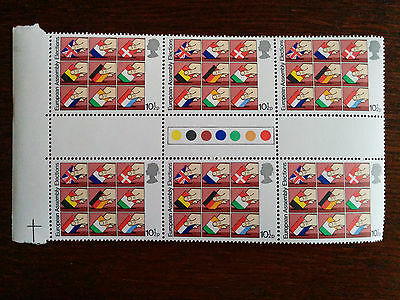 GB stamps 1979 Mint and unmounted block of 6 European Assembly Elections