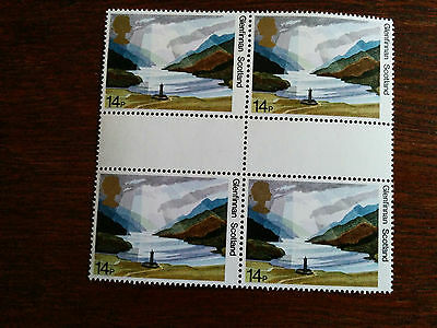 GB mint and unmounted block of 4 Glenfinnan 1981 stamps