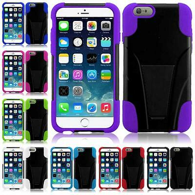 For Apple Iphone 6 6s Plus 5.5 INCH Dual Layer Hybrid Armor T-STAND Cover Case