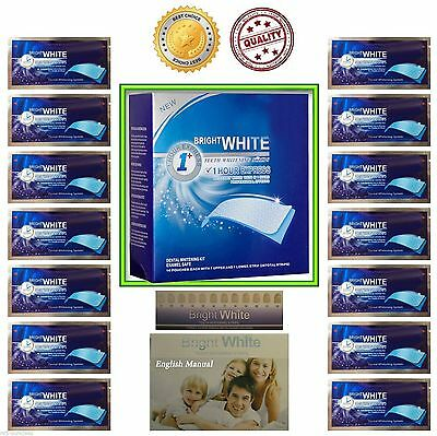 Bright White Professional Teeth Whitening Strips 1 Hour  - Express Teeth Whiteni