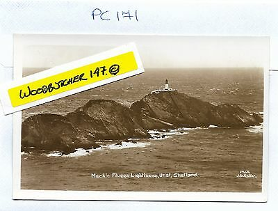 Muckle Flugga Lighthouse.  Sinclair RP Postcard. Unposted.  (PC171)