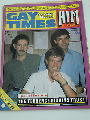 Vintage Gay Times Issue 74 Him Magazine Gay Interest Sylvester