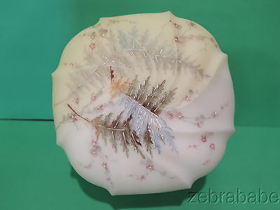 Antique Wavecrest Dresser Box Fern Leaf Floral
