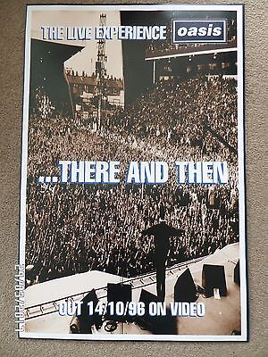 Oasis There And Then Original 1996 Promo Poster.