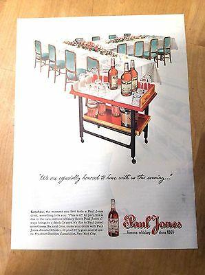 Paul Jones Whiskey Magazine Ad - We Are Especially Honored